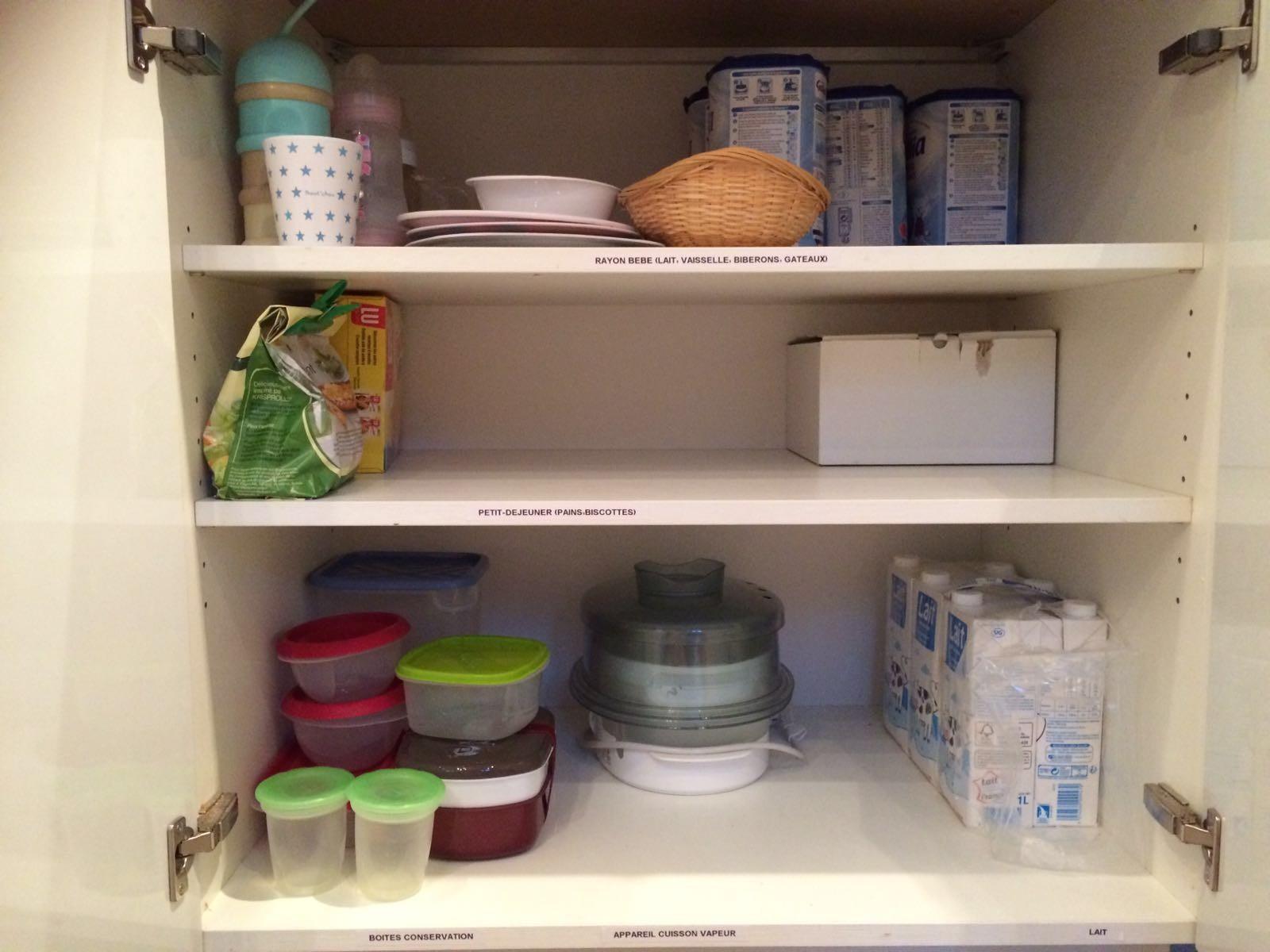 organisation pour petite fille dans la cuisine