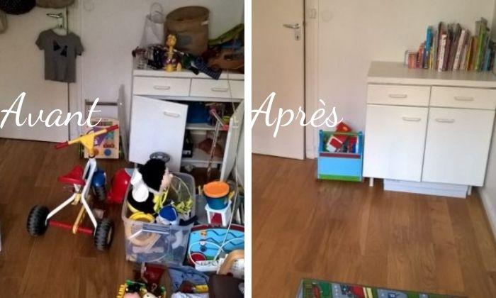 avant/après chambre enfant